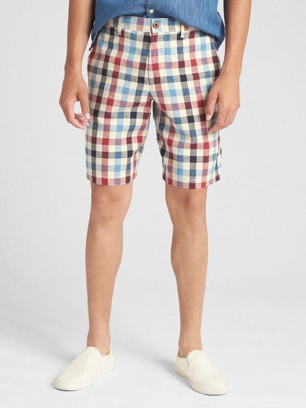 "Gap - 10"" Chino Shorts in Linen - 7"