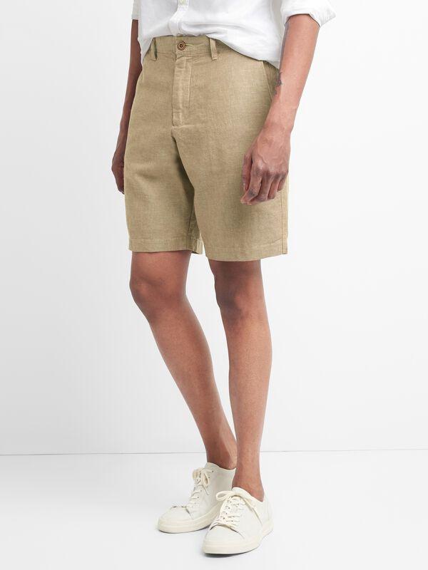 "Gap - 10"" Chino Shorts in Linen - 9"