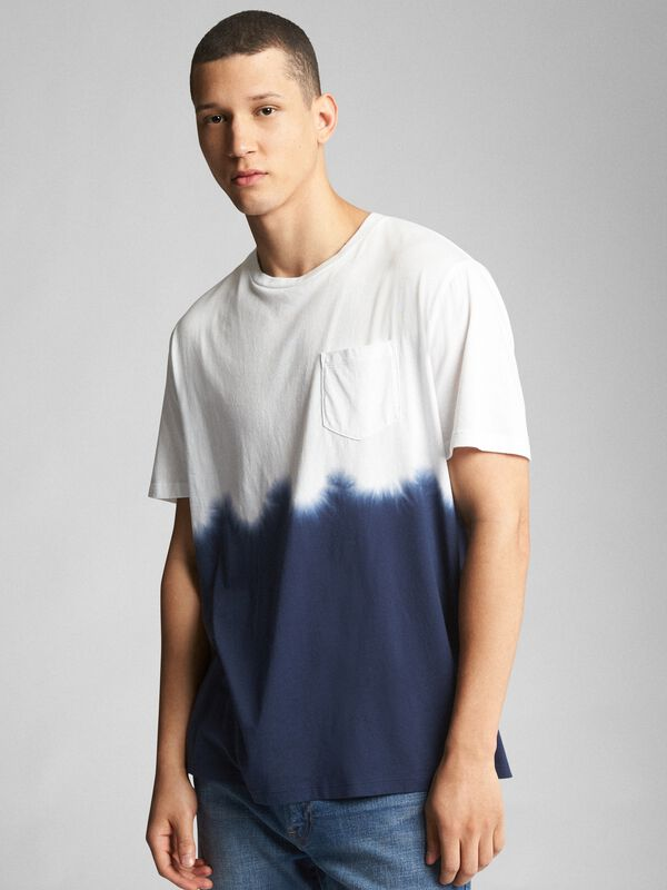 Gap - Tie-Dye Pocket Crewneck T-Shirt - 1