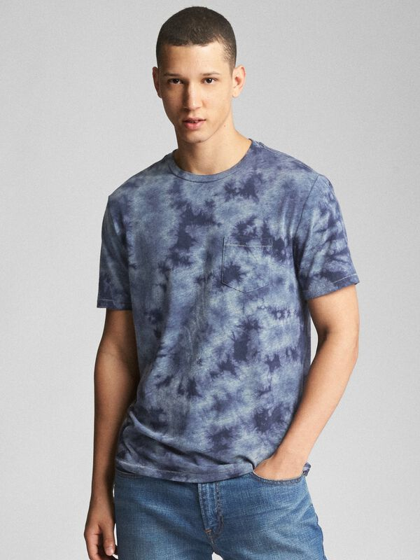 Gap - Tie-Dye Pocket Crewneck T-Shirt - 7