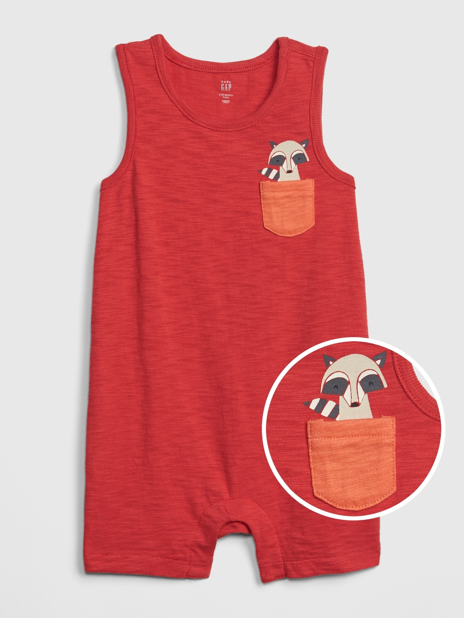 Baby Critter-Pocket Tank Shorty One-Piece
